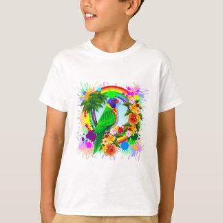 T-shirt Art de perroquet de Lorikeet d'arc-en-ciel