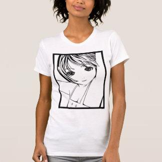 T-shirt Art de pin-up de jeune écolière de Manga des