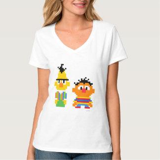 T-shirt Art de pixel de Bert et d'Ernie