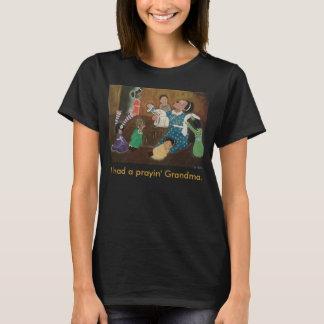 T-shirt Art de prière d'église de grand-mère