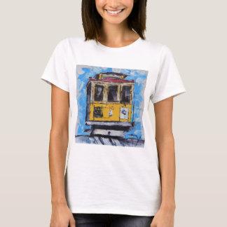 T-shirt Art de San Francisco, peinture de funiculaire, la