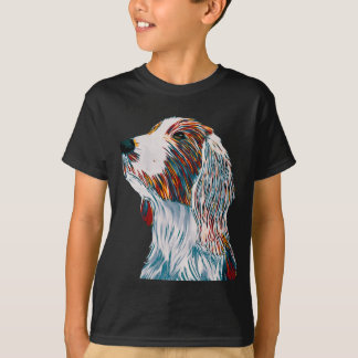 T-shirt Art de springer spaniel de Gallois