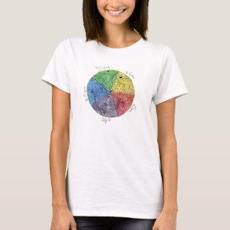 T-shirt Art de stylo illustré par main Artsy d'éléments de