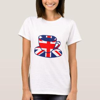T-shirt Art de tasse de thé de drapeau d'Union Jack