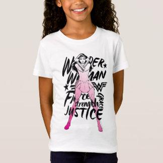 T-Shirt Art de typographie de brosse de femme de merveille