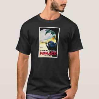 T-shirt Art de voyage de course de voiture du Monaco Grand