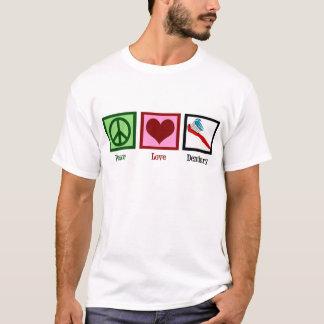 T-shirt Art dentaire d'amour de paix
