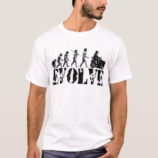 T-shirt Art d'évolution de coureur de conducteur de