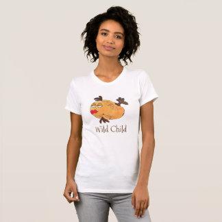 T-shirt Art génial lunatique de poissons en rouge et le