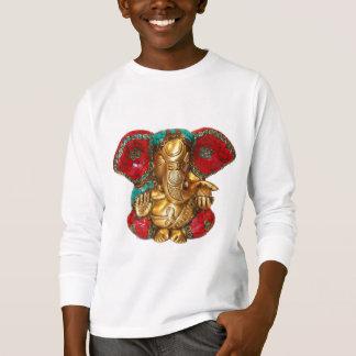 T-shirt Art indien de temple hindou de statue en laiton