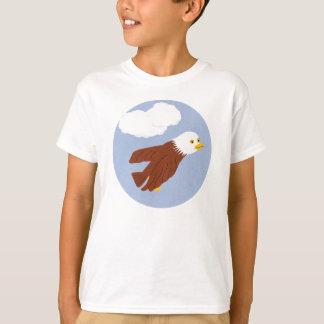 T-shirt Art lunatique chauve de bande dessinée d'Eagle