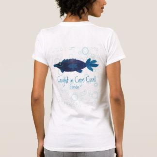 T-shirt Art lunatique de corail de poissons de la Floride