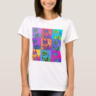 T-shirt Art op - chien de traîneau sibérien