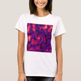 T-shirt Art pourpre rouge-rose noir abstrait