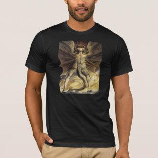 T-shirt Art rouge William Blake de dragon