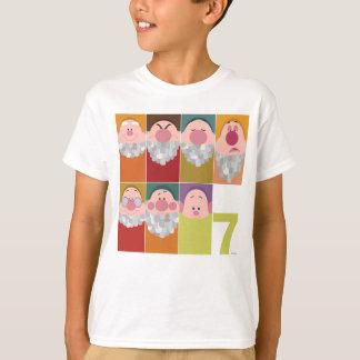 T-shirt Art stylisé de caractère de sept nains