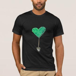 T-shirt Art topiaire vert de coeur