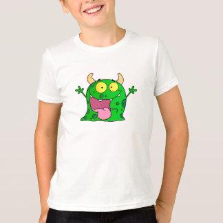T-shirt Art vert tiré par la main drôle de bande dessinée