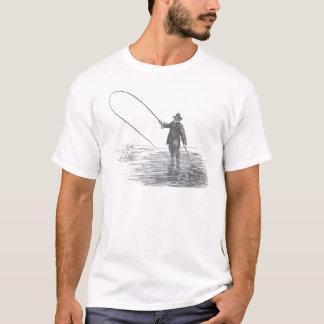 T-shirt Art vintage de pêche de mouche