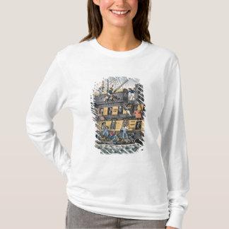 T-shirt Artillerie de vol ou une marine de cheval (engravi