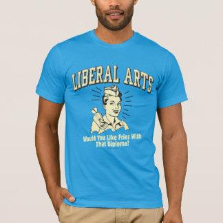 T-shirt Arts libéraux : Fritures de goût avec le diplôme