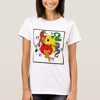 T-SHIRT ARTS MARTIAUX 5 ANIMAUX