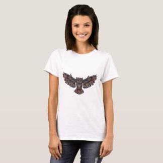 T-shirt Artsy métallique de hibou
