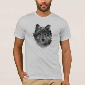 T-shirt Arty wolf with gold eyes