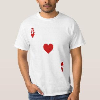 T-shirt As de carte de jeu de coeurs
