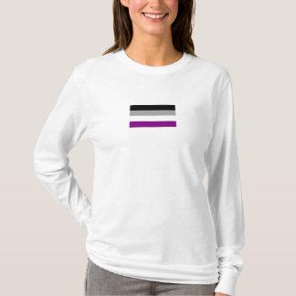 T-shirt asexuel du drapeau de Ladie