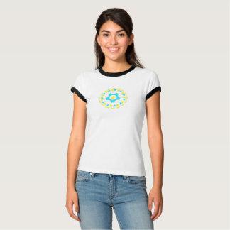 T-shirt assemblé par vie avec l'équilibre noir -