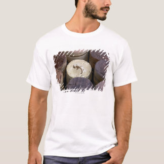 T-shirt Assortiment des lièges utilisés, macro. Les lièges