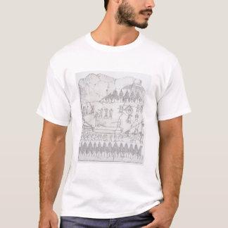 T-shirt Assyriens déplaçant un Taureau à ailes sur un