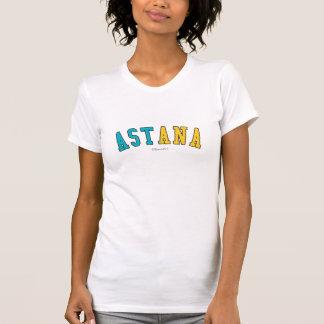 T-shirt Astana dans des couleurs de drapeau national de