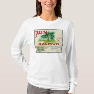 T-shirt Astoria, Orégon - étiquette saumoné de caisse de