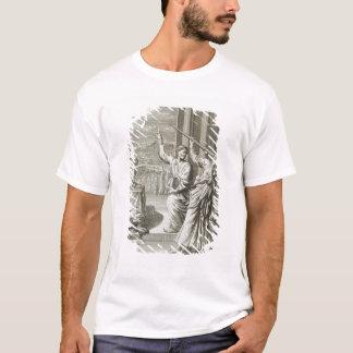 T-shirt Astronome grec étudiant les étoiles, illustration