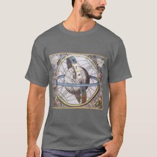 T-shirt Astronomie vintage, zodiaque céleste de
