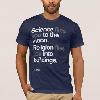 T-shirt Athée - la Science vole à la lune