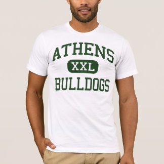 T-shirt Athènes - bouledogues - lycée - les plaines Ohio