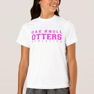 T-shirt Athlétisme rose de monticule de chêne