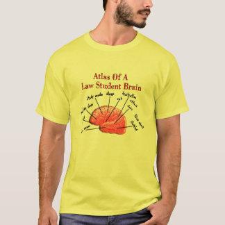 T-shirt Atlas de cerveau d'étudiant en droit