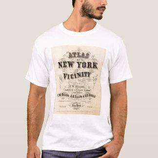 T-shirt Atlas de page titre de New York, proximité