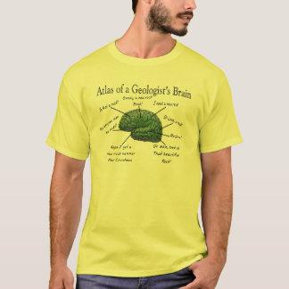 T-shirt Atlas des cadeaux drôles du cerveau d'un géologue