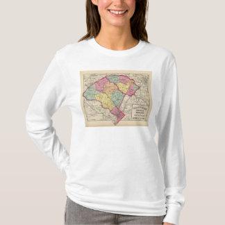 T-shirt Atlas topographique des comtés 2 du Maryland