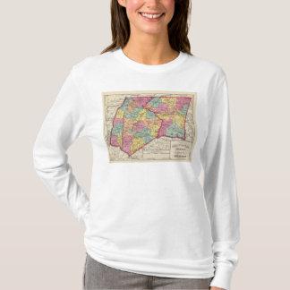 T-shirt Atlas topographique des comtés 5 du Maryland