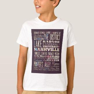 T-shirt Attractions et endroits célèbres de Nashville