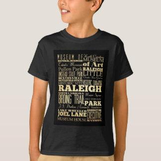 T-shirt Attractions et endroits célèbres de Raleigh