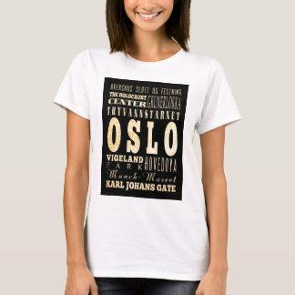 T-shirt Attractions et endroits célèbres d'Oslo, Norvège
