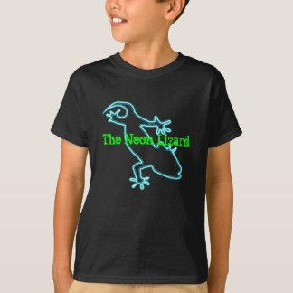T-shirt au néon de lézard