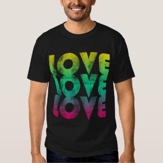 T-shirt au néon des années 80 d'amour